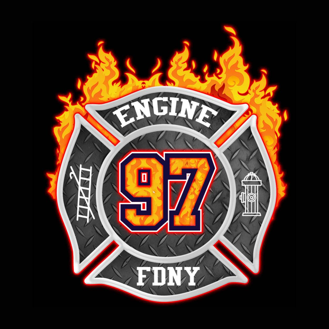 Engine 97 Fire Department Logo